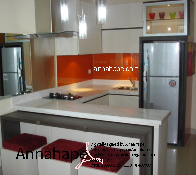 interior kitchen set apartemen