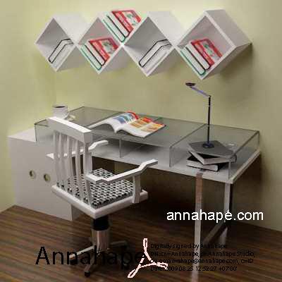Interior Meja belajar Minimalis