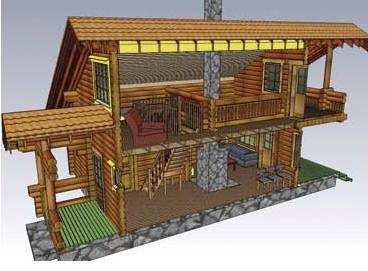 gambar rumah tingkat on Contoh Desain Villa Rumah Kayu