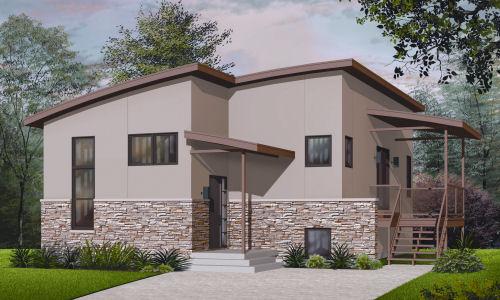 contoh desain bangunan rumah kontemporer untuk rumah