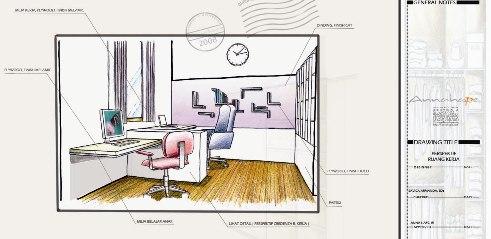 Perspektif Ruang Kerja Annahape Studio Desain Rumah Desain