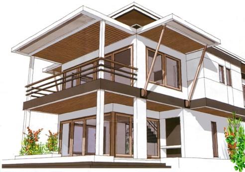Tip 43 gambar rumah tinggal apapun gayanya arsitektur for Tropical kit homes