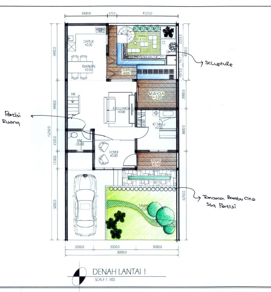 Tip 56 Rumah Tipe 80: Modifikasi Gambar Denah Rumah. Kalau Rumah ...