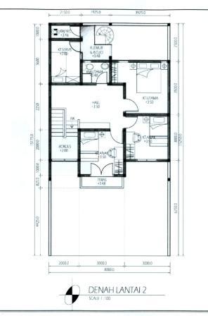 contoh denah rumah layout annahape studio desain rumah