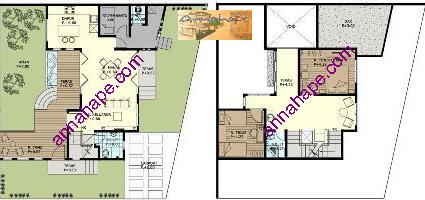 Contoh Denah Rumah / Layout | ANNAHAPE STUDIO Desain Rumah: Desain Interior + Arsitektur Rumah