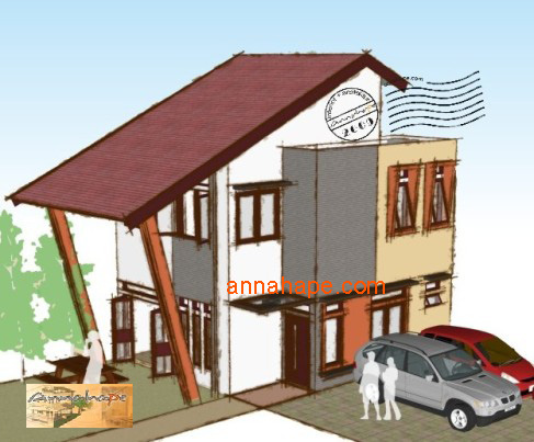 tip 70 annahape fasad rumah tropis mungil
