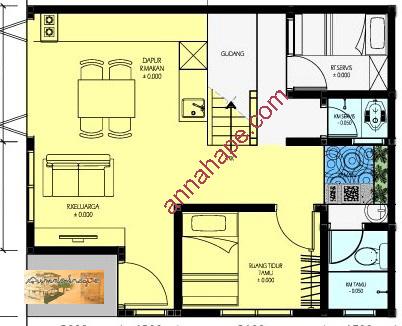 tip 70 Denah lantai1