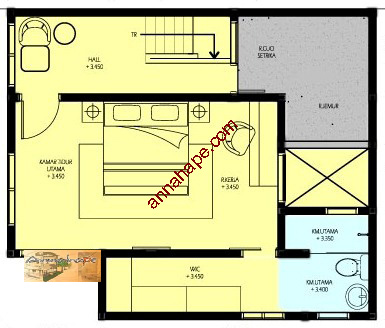 Contoh Denah Rumah / Layout | ANNAHAPE STUDIO Desain Rumah ...