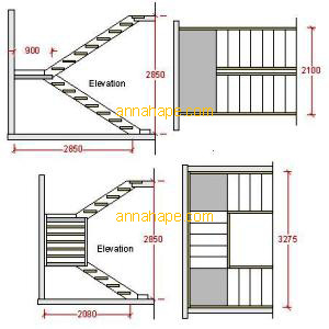 Contoh Denah Rumah / Layout  ANNAHAPE STUDIO Desain Rumah