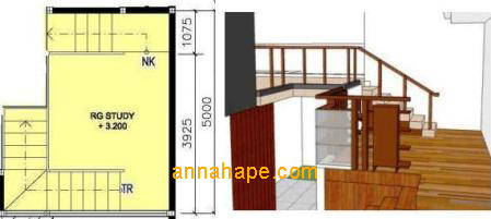 Desan Tangga Dan Mezzanine Annahape Studio Desain Rumah Desain Interior Arsitektur Rumah