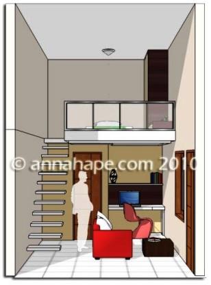 Interior Apartemen Tipe Studio