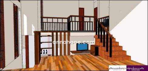Sketsa Rumah on Tak Hanya Tampak Rumah  Desain Sketsa Mezzanine Dalam Rumah