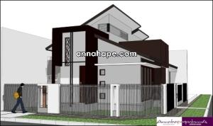 Rumah 1 Lantai dengan Plafon Tinggi