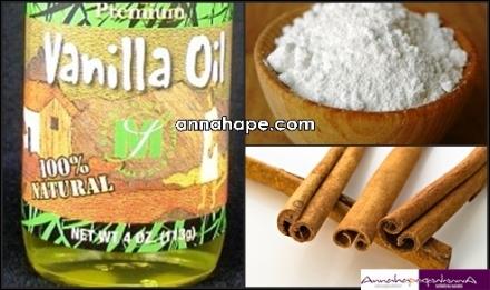 Minyak Vanilla, Baking Soda dan Kayu Manis