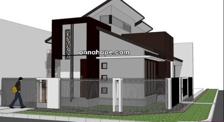Jenis Lantai on Gambar Rumah Satu Lantai Dengan Plafon Tinggi 032 Jpg W 440 H 240 Crop